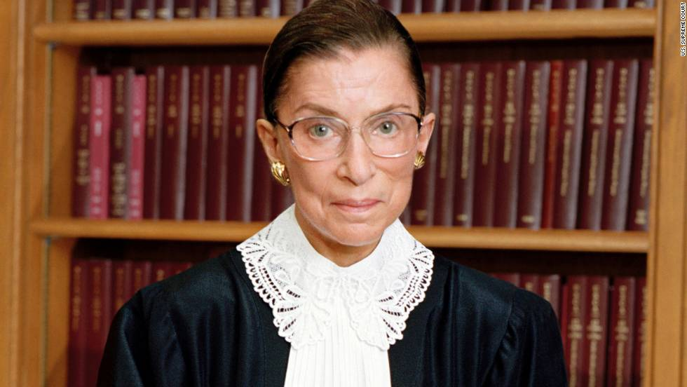 Justice Ruth Bader Ginsburg is the second woman to serve on the Supreme Court. Appointed by President Bill Clinton in 1993, she is a strong voice in the court's liberal wing.