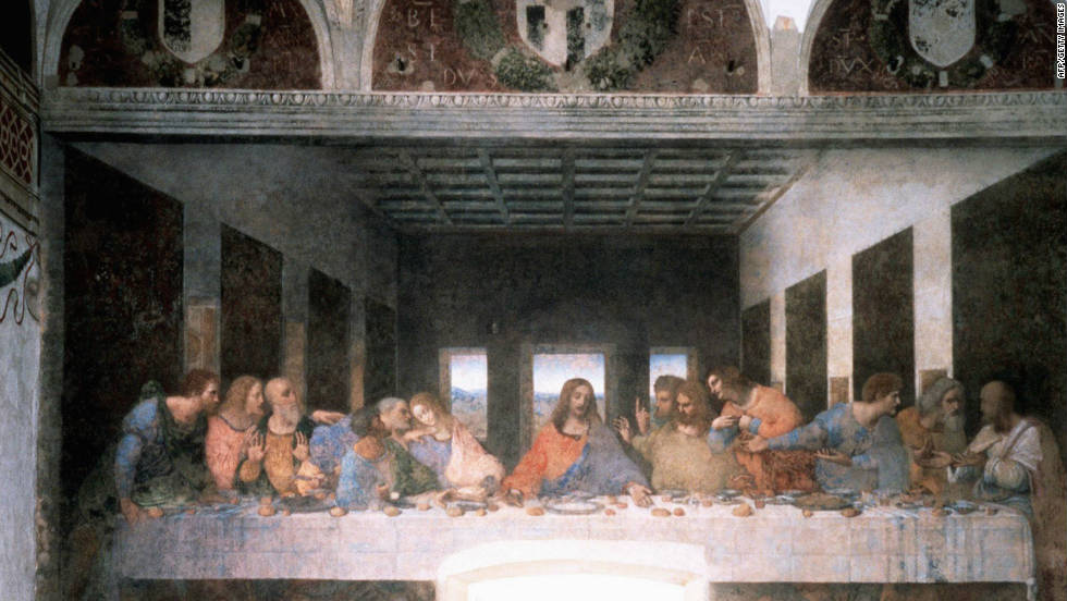 "Da Vinci's fresco in the church of Santa Maria delle Grazie in Milan was commissioned by his patron Ludovico Sforza, the Duke of Milan. The artist's genius is seen ""especially in the use of light and strong perspective,"" according to UNESCO. Repeated conservation programmes have been carried out, the most recent over the past 20 years."