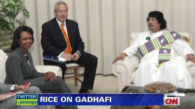 Rice says Gadhafi crush was 'creepy'