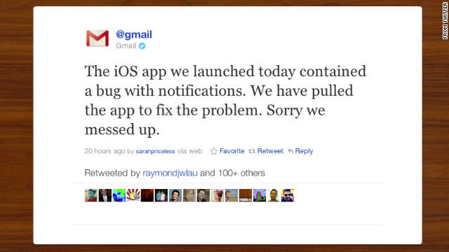 "Google says it ""messed up"" by releasing a Gmail app for iOS that barely functioned."