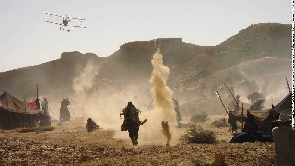 "A scene from ""Black Gold,"" reminiscent of the ""Indiana Jones,"" movie franchise, also filmed in Tunisia."