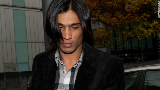 Former Pakistani cricketer Mohammad Aamer arrives at Southwark Crown Court in London, on November 3, 2011