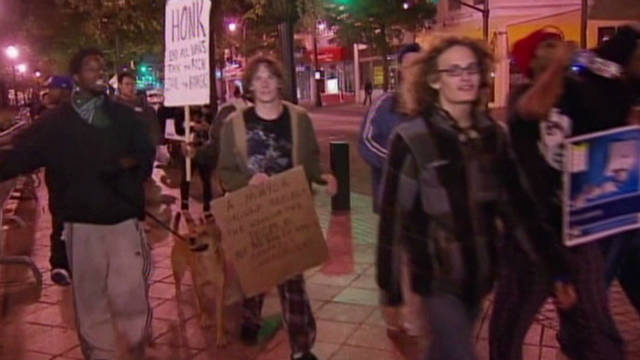 Occupy Atlanta's non-violent protest