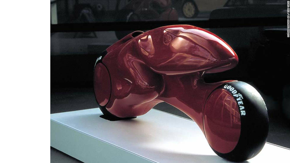 Colani 'Frog,' 1973. A study of possible shapes for a motorcycle.