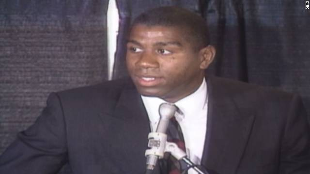 Magic Johnson HIV announcement Part 1_00010209