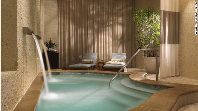 Sandpearl Resort in Clearwater, Florida, offers treatments tailored to business travelers.