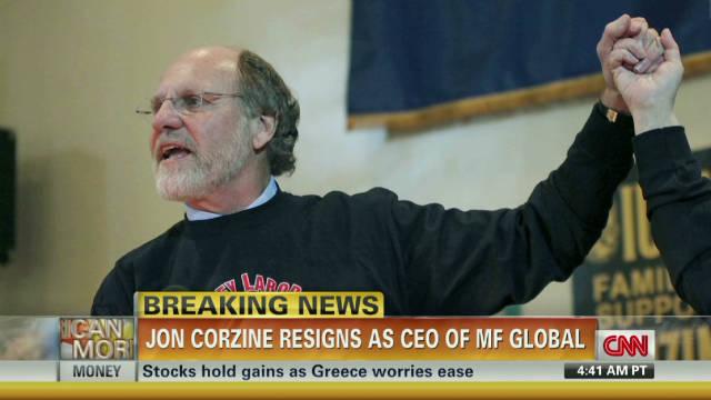 Jon Corzine resigns as MF Global CEO