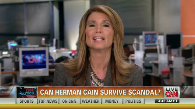 Can Herman Cain survive scandal?