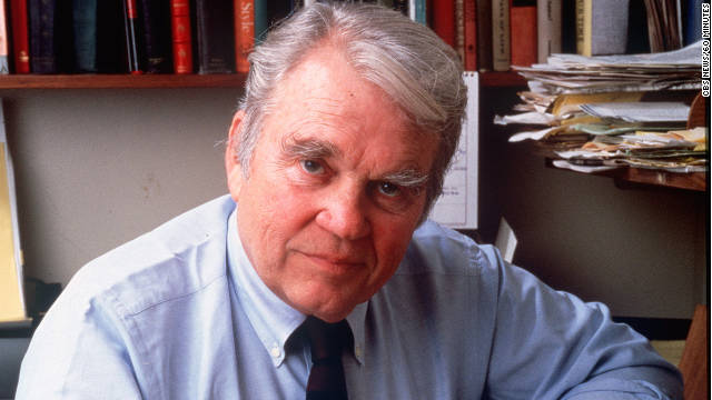 CBS News released this photo of Andy Rooney on the announcement of his death Saturday.