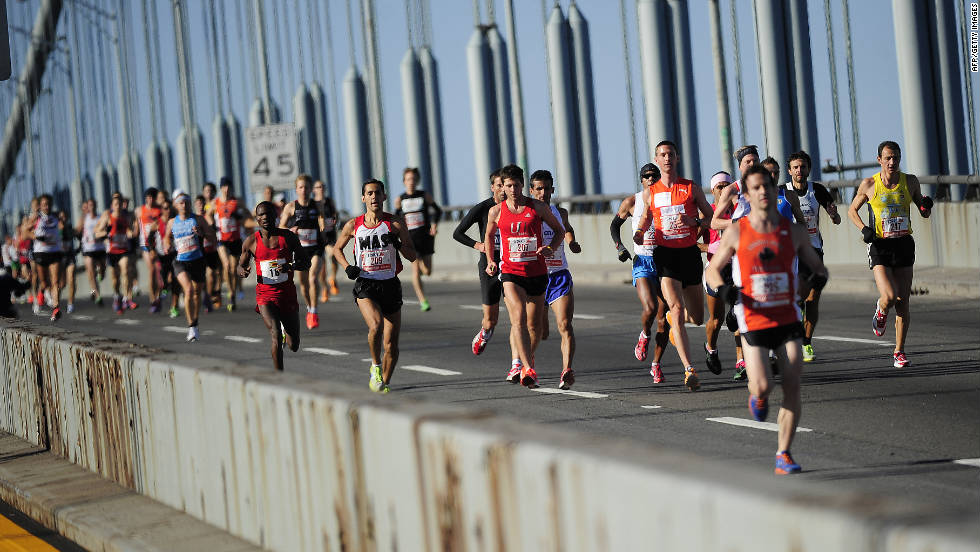 The race had 47,107 runners this year. Only 127 people participated in the first event in 1970.