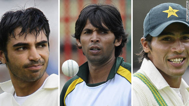 Mohammad Asif (left), Salman Butt and Mohammad Amir all received jail sentences for their part in a betting scam.