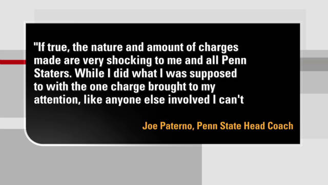 Paterno calls charges 'shocking'