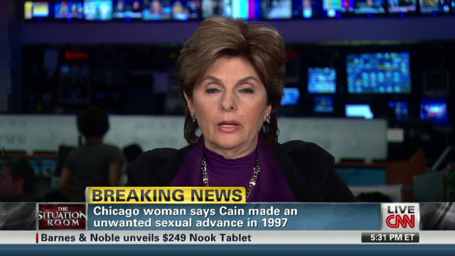 Allred talks about client's claims