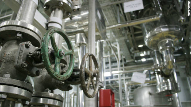 The inside of a uranium conversion facility is seen March 30, 2005 near the city of Isfahan, south of the Iranian capital Tehran.