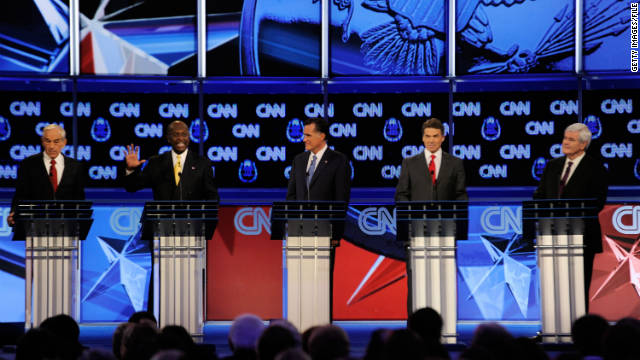 Will GOP candidates take on the sexual harassment allegations against Herman Cain at Wednesday's debate in Michigan?