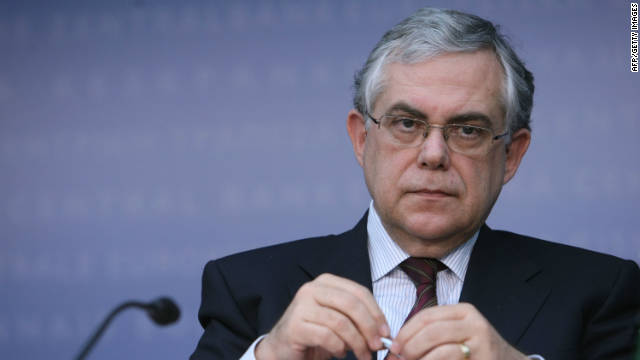 Lucas Papademos, a former European Central Bank vice president, has been named prime minister of Greece.