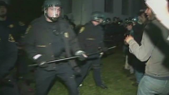 Riot police vs. Occupy protesters