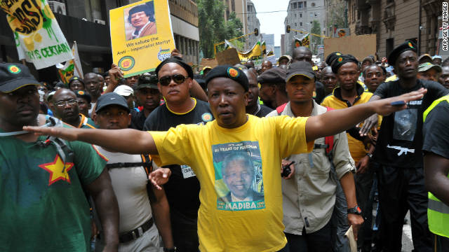 Controversial ex-ANC youth leader Julius Malema has been critical of President Jacob Zuma.