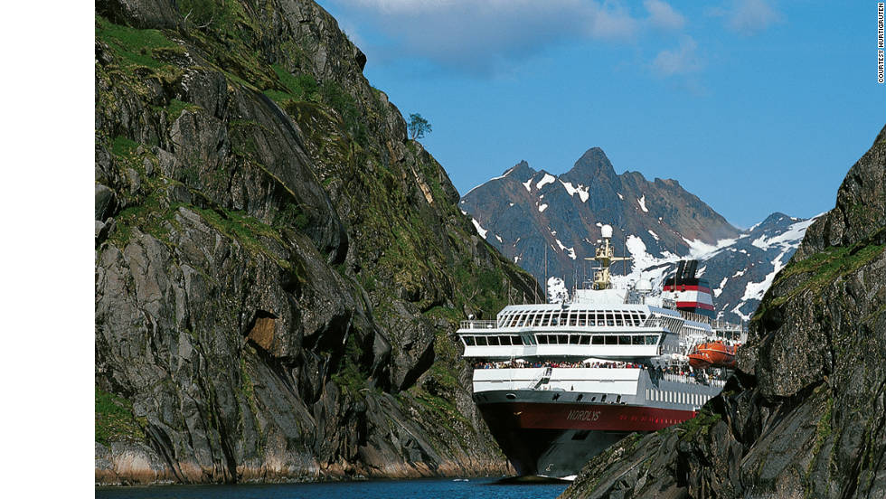 The Norwegian Coastal Voyage is a trip on a working steamer that travels up and down Norway's magnificent west coast from Bergen in the South to Kirkenes in the North calling at 34 ports along the way.