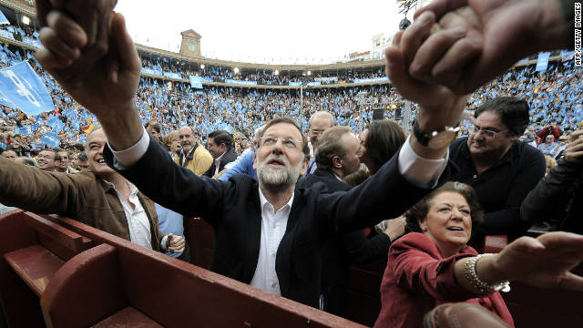 Spain protests before vote