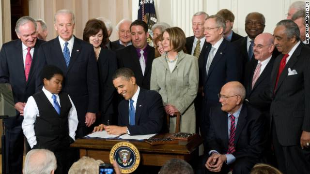 2010: Obama signs health care bill