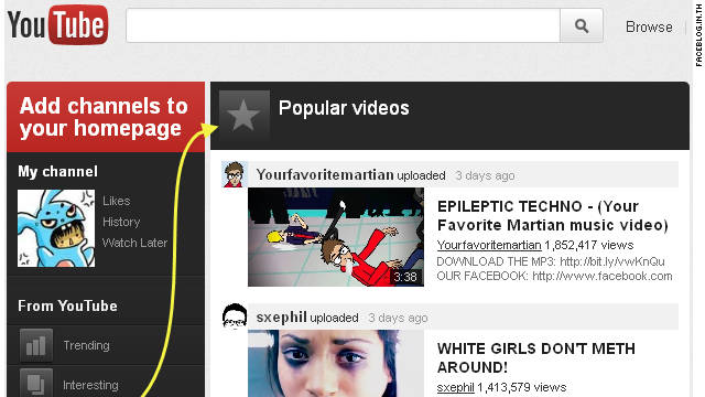 A Thai social-media blog posted images Monday of what appears to be a new look for YouTube.