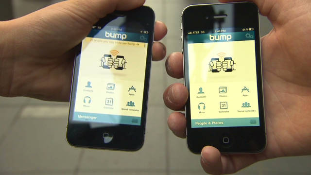 How Bump's unique sharing app works