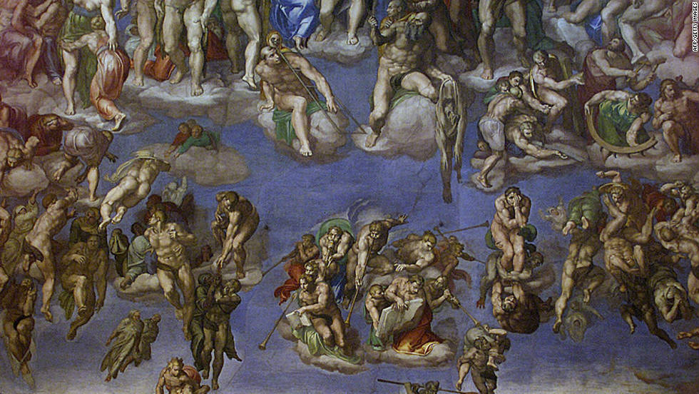 "Michelangelo's ""Last Judgement"" at the Sistine Chapel in the Vatican is believed by some to contain coded messages preaching religious tolerance."