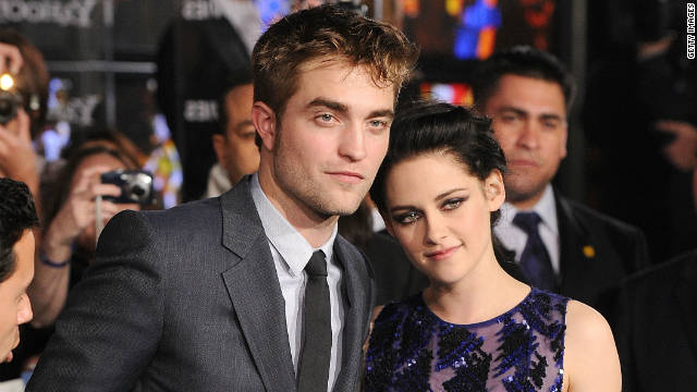 Robert Pattinson and Kristen Stewart arrive at the premiere of 'The Twilight Saga: Breaking Dawn - Part 1' on November 14, 2011 in Los Angeles, California