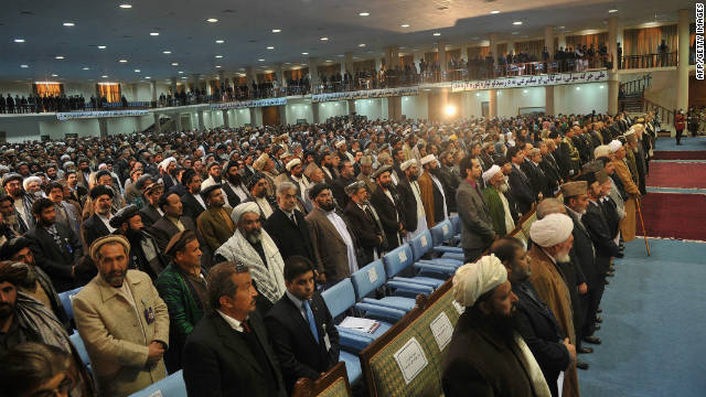 More than 2,000 Afghan leaders are attending the loya jirga -- a national assembly -- in Kabul.