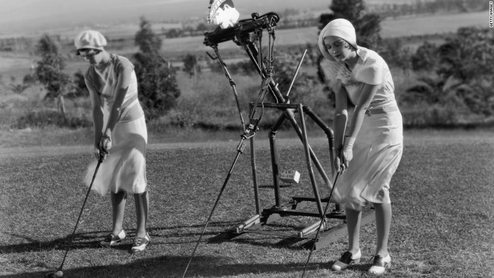 Even back in 1924, golfers resorted to unusual ways to improve their playing skills.