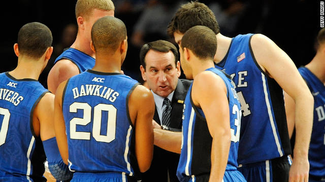 Duke's win against Michicagn State on Tuesday made Mike Krzyzewski the winningest coach in college basketball.