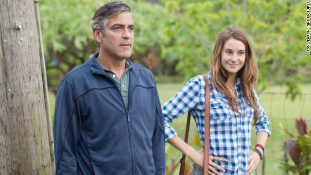 "George Clooney and Shailene Woodley star in ""The Descendants."""