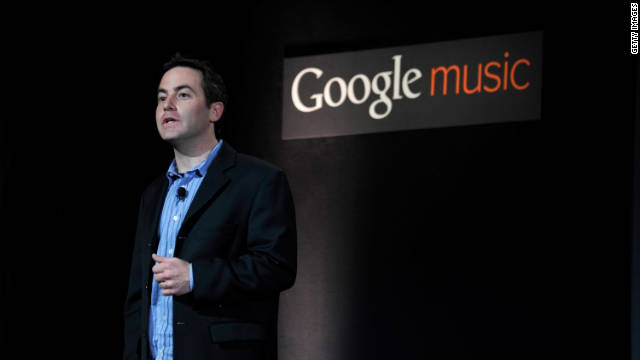 Google's Jamie Rosenberg announces the Google Music store and locker in Los Angeles.