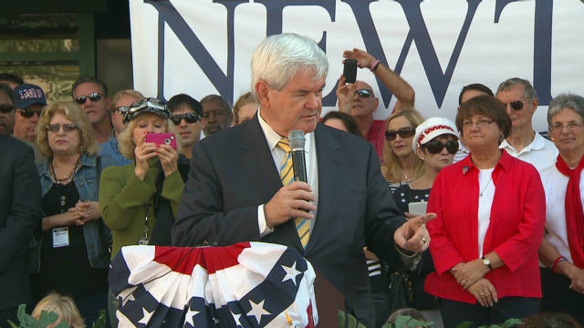 Gingrich condemns Occupy movement