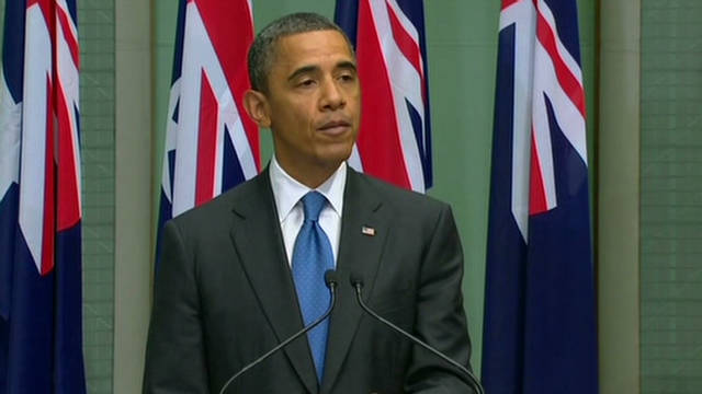 Obama honors U.S. Navy in Darwin