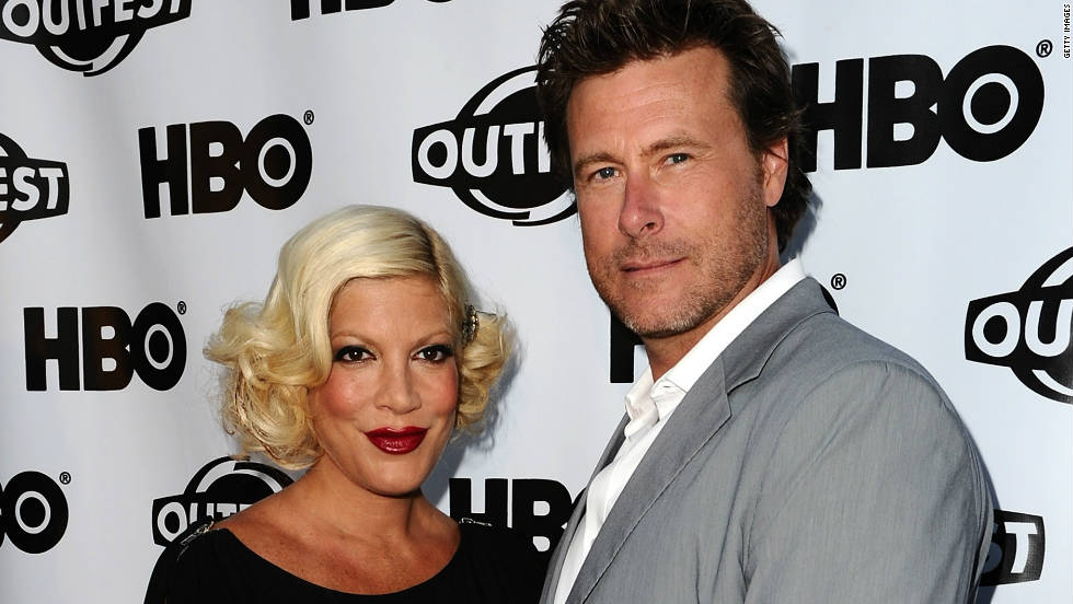 Tori Spelling and Dean McDermott got engaged in 2005 at a Christmas tree farm on Christmas Eve in his native Canada. The pair rode in a horse-drawn carriage down a half-mile road lit up with lights, leading to a table for two surrounded by decorated Christmas trees.