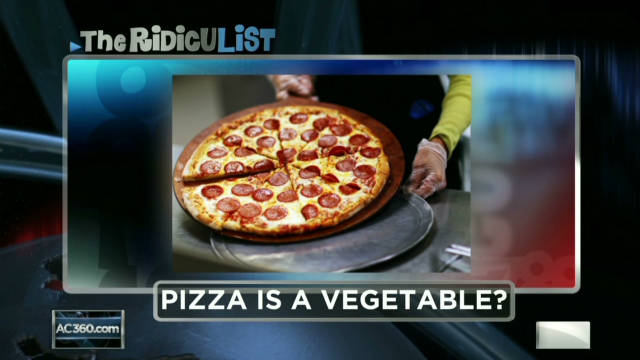 RidicuList: Is pizza a vegetable?