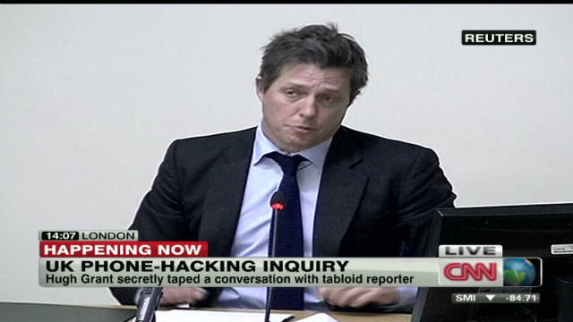 Hugh Grant testifies on phone hacking