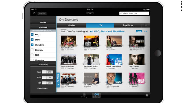 Comcast's current Xfinity TV app offers a remote control and on-demand video free to subscribers.