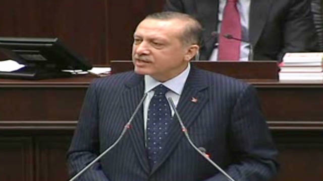 Turkish Prime Minister Recep Tayyip Erdogan has condemned Syrian President Bashar al-Assad in remarks to party members