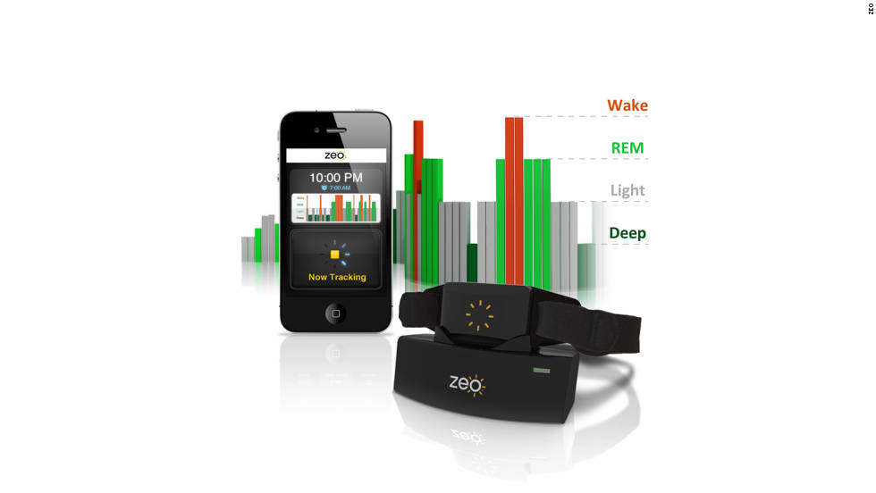 "The <a href=""http://www.myzeo.com/sleep/shop/zeo-sleep-manager-mobile.html"" target=""_blank"">Zeo Sleep Manager - Mobile</a> allows you to track your sleep habits using a mobile device. The app is used in conjunction with the Zeo Software headband, which records the length and quality of your sleep as well as other factors that may be keeping you from getting a good night's rest. The app is available on iPhone and Android smartphones. Cost: $99.00."