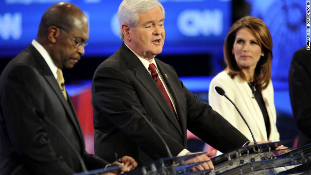 Newt Gingrich drew the most buzz among the candidates in CNN's GOP debate Tuesday night, says David Gergen.
