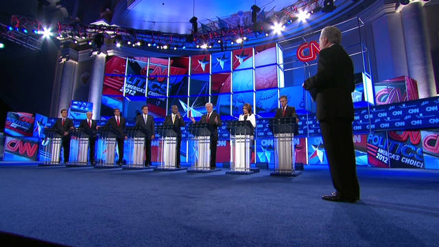 Republican candidates debate security