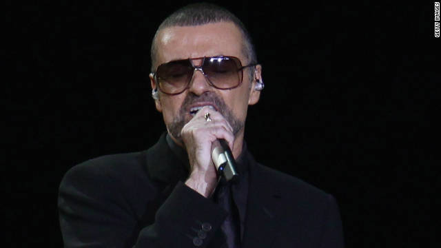 George Michael performs at Mediolanum Forum in Milan on November 11.
