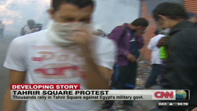 Tahrir square protester injuries