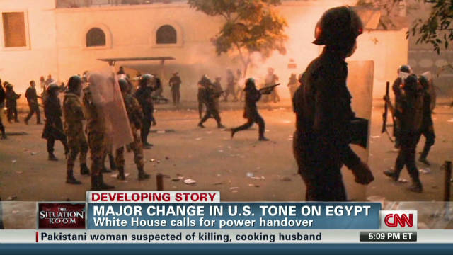 Major change in U.S. tone on Egypt