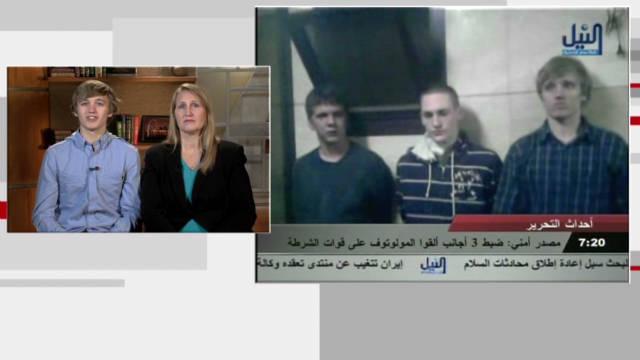 American student jailed in Egypt talks