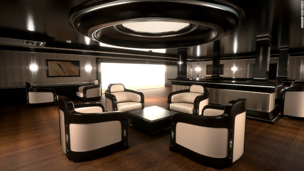 Designers took inspiration from classic early 20th century cruise liners for the interior.