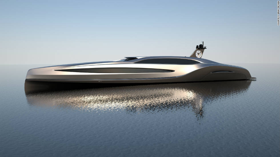 The 100 meter yacht can reach speeds of up to 30 knots and is considered the most high performance yacht ever in its class.